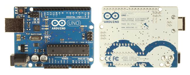 Arduino UNO R3 - przód/tył.