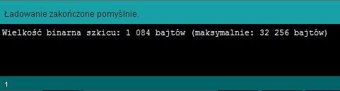 Program został poprawnie przesłany do Arduino!