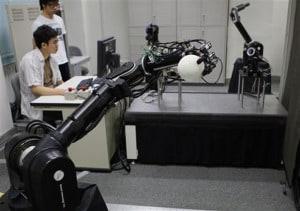 Japoński robot do gry w baseball