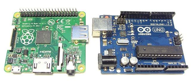 Raspberry Pi A+, Arduino UNO