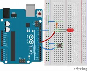 Podłączenie przycisku do Arduino.