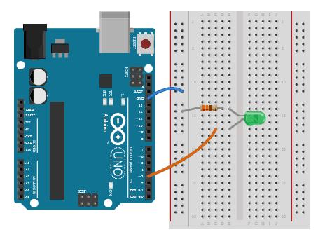 Pulsowanie diodą przez Arduino - PWM.