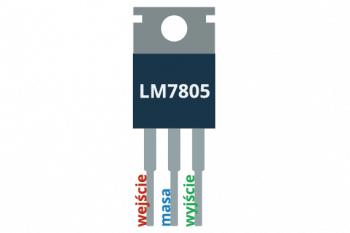 Wyprowadzenia stabilizatora LM7805