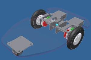 Projekt podwozia robota.