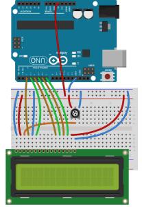 Podłączenie LCD do Arduino.