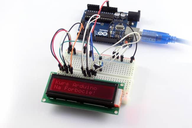 Tekst wyświetlany na LCD z Arduino!