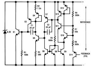 Schemat ideowy układu LM385