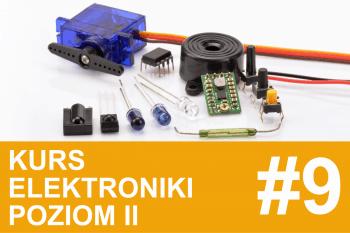 Kurs elektroniki II – #9 – czujnik przeszkód, sterownik serwa