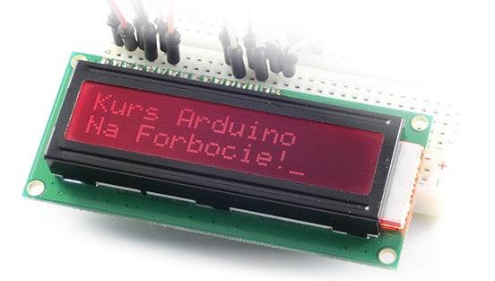 Przykład z kursu Arduino - wyświetlacz LCD.