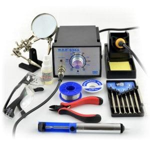 Kurs lutowania - zestaw narzędzi.