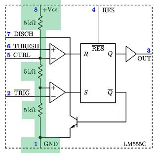 NE555 - blok 1- dzielnik napięcia.