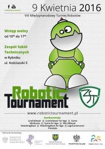 Robotic Tournament - plakat aktualnej edycji.