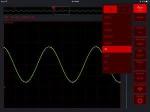 Areoscope - widok aplikacji