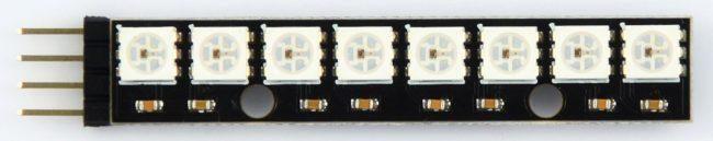 Moduł 8 diod programowalnych WS2812.
