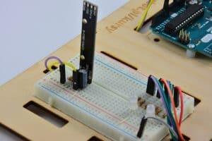 Linijka diod – widok od tyłu.