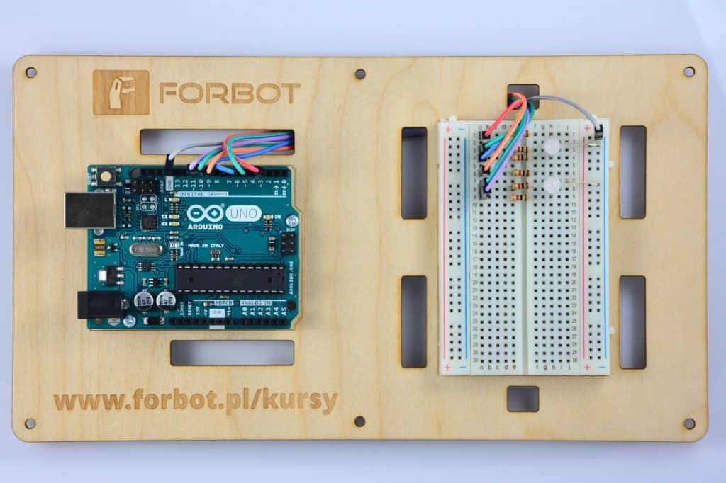 Druga dioda podłączona do Arduino.