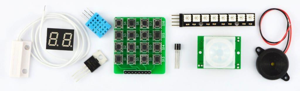 Przykładowe elementy omawiane podczas kursu Arduino (poziom 2).