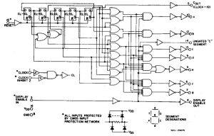 Schemat wewnętrzny układu CD4026