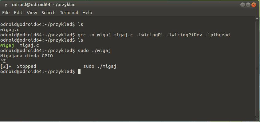 Odroid C2 – pierwszy program w C, obsługa GPIO • FORBOT on