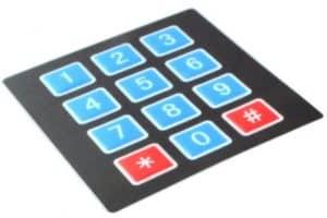 Przykład klawiatury numerycznej.