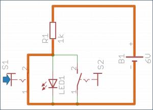 Drugi przycisk wciśnięty – dioda wyłączona.