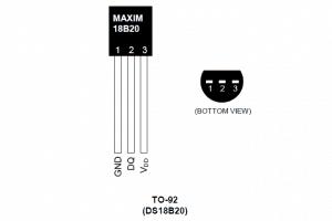 Opis wyprowadzeń DS18B20.
