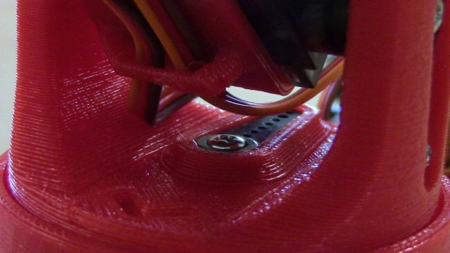 Elementy mechaniczne Littlearm wykonane na drukarce3D.