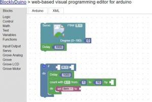 BlocklyDuino - graficzny edytor kodu Arduino