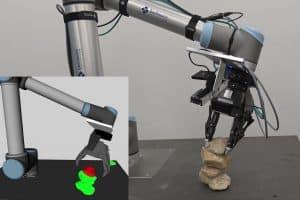 Robot, który potrafi budować stabilne wieże z kamieni!