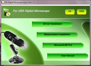 Instalator oprogramowania mikroskopu USB.