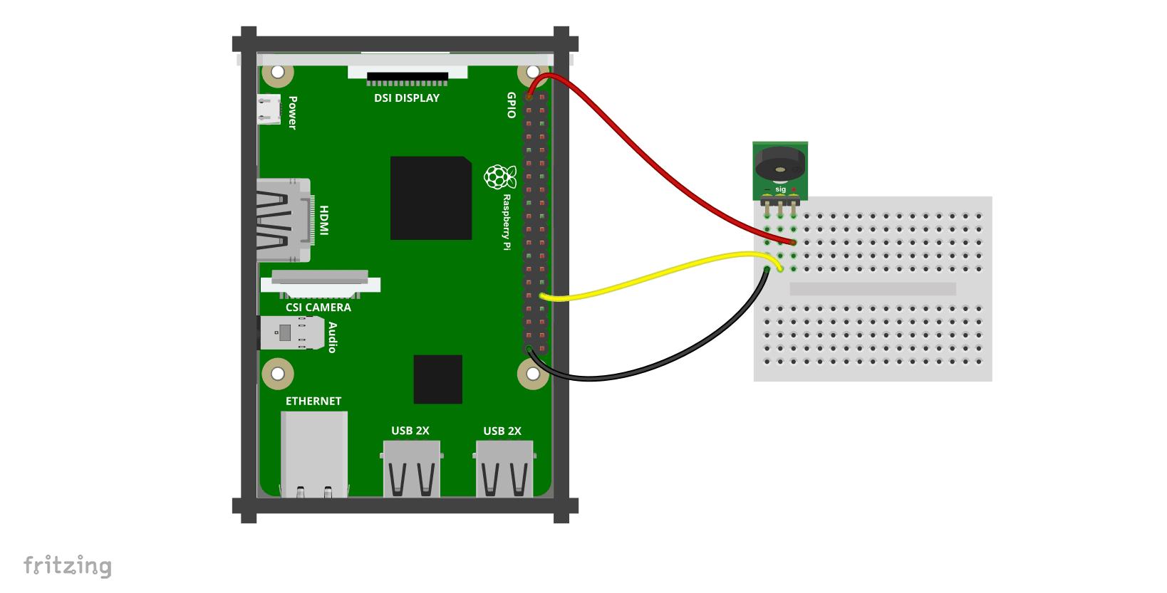 Kurs Raspberry Pi 12 Podstawy Gpio Skrypty Wiringpi Readall Schemat Podczenia Moduu Z Buzzerem