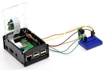 Podłączenie buzzera i DS18B20 do Raspberry Pi.