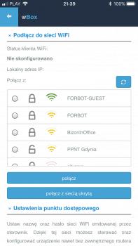 Łączenie z siecią WiFi.
