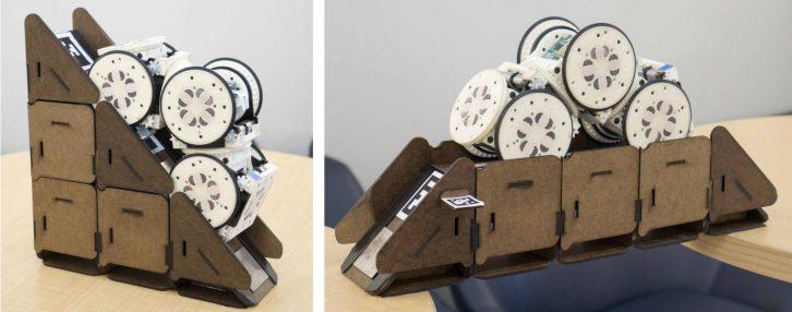 Robot korzystający z dodatkowych elementów.