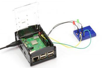 Podłączenie diod do Raspberry Pi.
