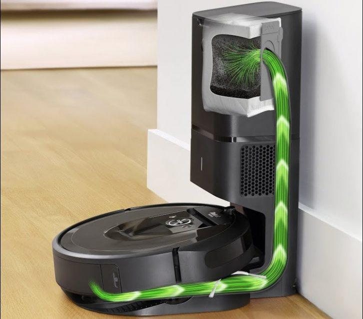 Automatyczne opróżnianie pojemnika w Roomba i7.