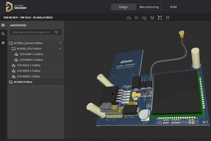 Podgląd 3D projektowanej płytki PCB