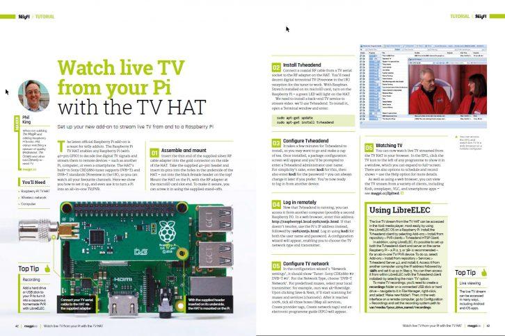 Instrukcje na temat używania Raspberry Pi TV HAT