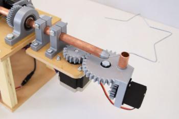 Automatyczna giętarka do drutu sterowana przez Arduino