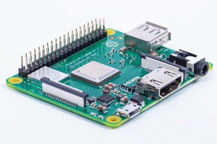 Nowe Raspberry Pi 3 model A+, widok na złącza