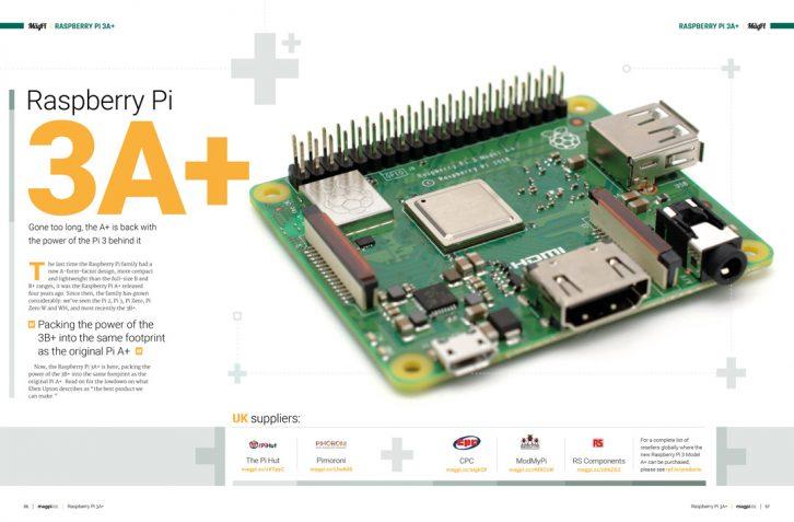 Artykuł o premierze nowego Raspberry Pi 3 A+