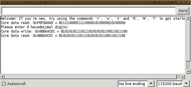 Przykładowe oprogramowanie pomaga zrozumieć, jak działa pamięć ferrytowa