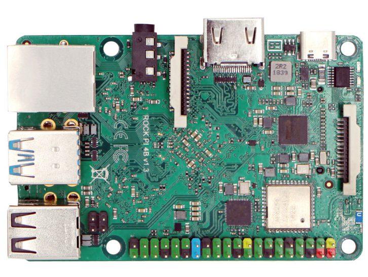 Wierzch Rock Pi do złudzenia przypomina oryginalne Raspberry Pi 3