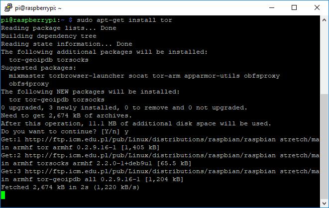 Instalacja Tora na Raspberry Pi