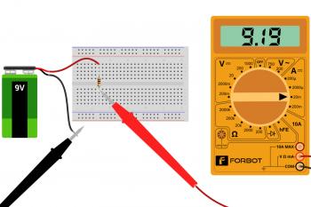 Pomiar prądu płynącego przez rezystor 1k