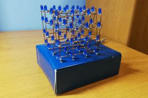 Led Cube(4x4x4) sterowany ze smartphona
