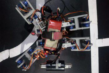 Robot z Raspberry Pi, który uczy się chodzić (sieci neuronowe)