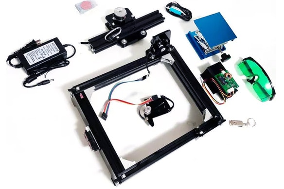 Części potrzebne do budowy laserowego grawera CNC