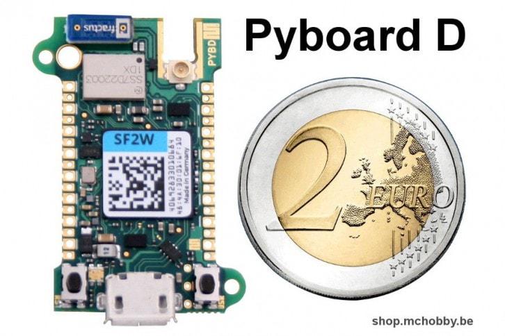 Pyboard D jest bardzo dobrze zoptymalizowane pod kątem wymiarów