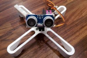 Skaner 3D przy użyciu ultradźwiękowego czujnika odległości